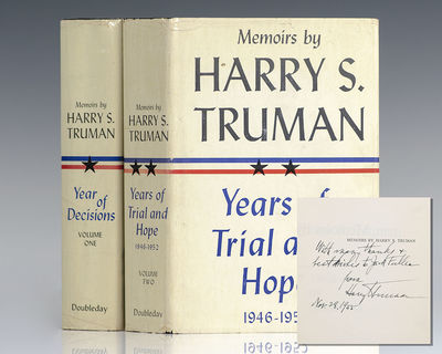 New York: Doubleday & Company, 1955-56. First editions of President Truman's presidential memoirs. O...