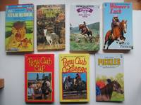 image of 7 pony stories first published in the 1980s: Star rider, with, The switch  horse, with, Ride like the wind, with, Winner's luck, with, Pony Club cup,  with, Pony club challenge, with, Pickles