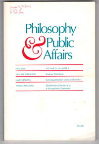 Philosophy & Public Affairs: Fall 2000, Volume 29  Number 4