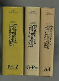 The New International Dictionary of New Testament Theology 3 Volumes