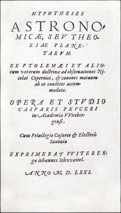 Hypotheses astronomicae. Witebergae:...
