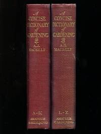 image of A Concise Dictionary of Gardening - In Two Volumes