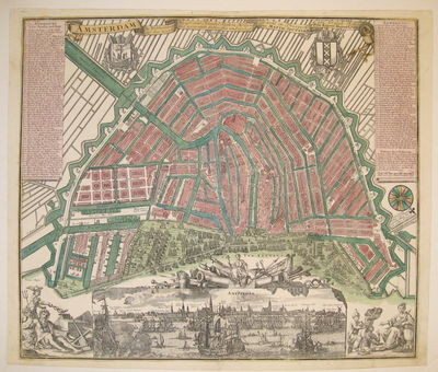 Nuremberg: Homann, 1739. unbound. Map. Engraving with original hand coloring. Image measures 19.5
