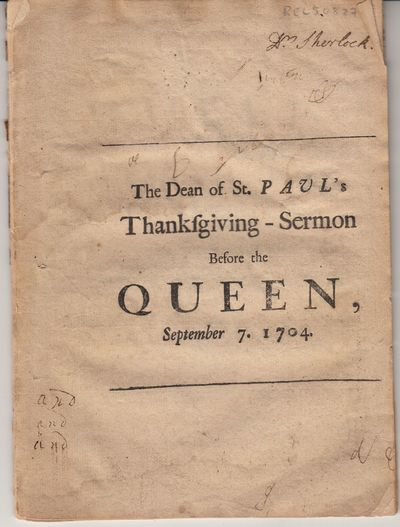 London: Rogers, 1704. Paperback. Good. Paperback. Thin 26-pages. Sermon with one page of ads. First ...