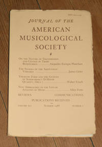 Journal of the American Musicological Society. Volume XLI Summer 1988, Number 2