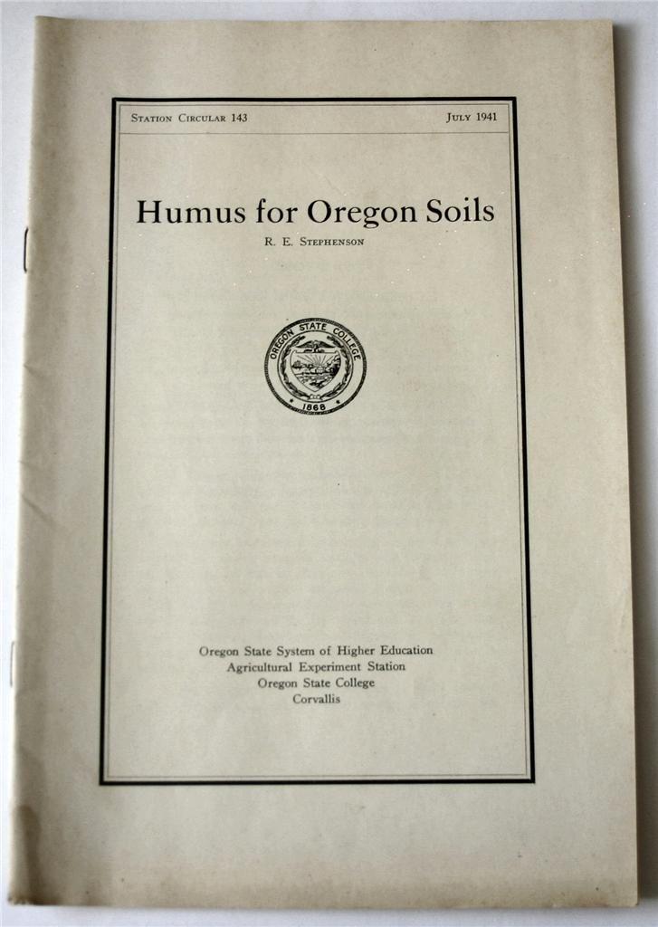 Humus for oregon soils oregon state system of higher for Soil 205 oregon state