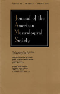 Journal of the American Musicological Society (Volume 54, Number 1, Spring 2001)