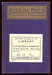 New York: D. Appleton and Company, 1924. Hardcover. Near Fine. First American edition. Publisher's f...