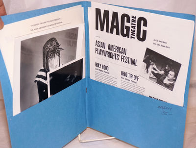 San Francisco: The Magic Theatre, 1989. 8.5x11 inch blue publicity folder containing one 8x10 inch b...