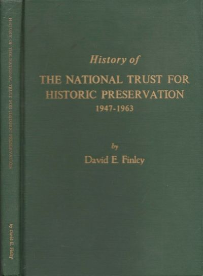 Washington DC: National Trust for Historic Preservation, 1965. First Edition. Hardcover. Good +. Oct...