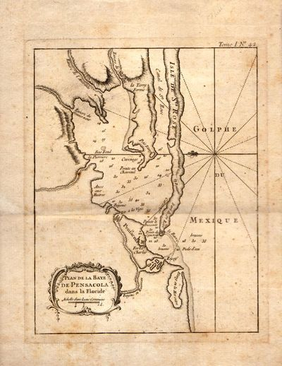 Paris: Jacques Nicolas Bellin, 1764. Map. Fair. 6.5