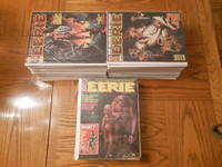 Huge Warren Eerie Magazine Lot - 74 Issues! Containing from #12 to #89 inclusive (EXCEPT for/missing #17, #23, #25, and #87).