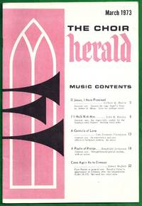 The Choir Herald March 1973.  Music Contents \