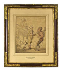 The Glass on the Road. Watercolor on paper, signed T. Rowlandson , lower left
