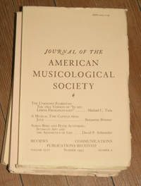 Journal of the American Musicological Society. Volume XLVI Summer 1993, Number 2