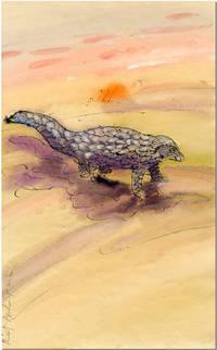 [Original Watercolor Drawing of a Pangolin]