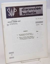 SWP discussion bulletin, vol. 24, no. 3 (January, 1963)