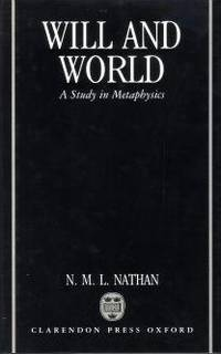 Will and World. A study in metaphysics.