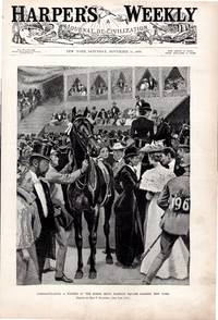 ENGRAVING: 'Congratulating a Winner at the Horse Show'... ...engraving from Harper's...