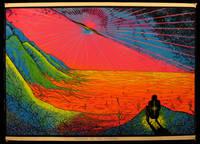 """""""Twilight of the Invisible"""" Velvet Neon Blacklight Poster, 1975"""