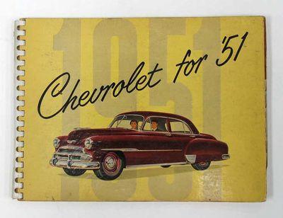 Detroit: General Motors Corporation, Chevrolet Motor Division, 1951. 1st printing. Yellow stiff card...