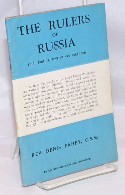 Dublin: Holy Ghose MIssionary College, 1946. Pamphlet. 99p., wraps worn else very good staplebound p...
