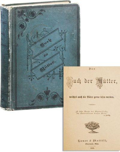 Cleveland: Lauer & Mattill, 1888. First Edition. Octavo (20.5cm.); publisher's blue-green decorative...