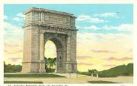 National Memorial Arch, Valley Forge, Pa 1931 used Postcard