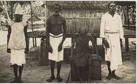 Photograph of Three Men and a Woman in Rabaul, Papua New Guinea