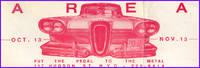 Bumper Sticker 80s Era w/Edsel