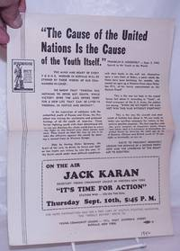 image of The cause of the United Nations is the cause of the youth itself