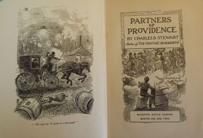 1907. TAYLOR, C.J.. STEWART, Charles D. PARTNERS OF PROVIDENCE. Illustrated by C.J. Taylor. Boston: ...