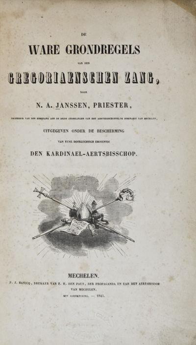 Mechelen: NP, 1845. Softcover. g. Ex-Library. 8vo. x,243,,pp. Original wraps bound in modern brown c...
