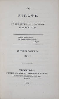The Pirate, by the author of Waverly, Kenilworth, &c