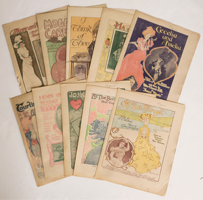 Softcover. Very good. Collection of 25 pieces of sheet music issued as Sunday supplements to the San...