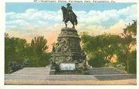 Washington Statue, Fairmount Park, Philadelphia, Pa – 1920s unused Postcard
