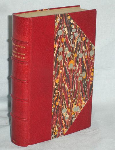 Paris: L. Hachette, 1867. First Edition. Octavo. viiii, 416p. Beautifully bound by Devauchelle in ri...