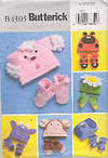 Butterick B4305 Infants'/Toddler's Hats and Slippers