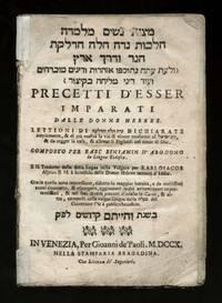 Mitsvot nashim melamdah.  Precetti d'esser imparati dalle donne Hebree