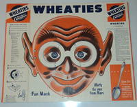 MARTY THE MAN FROM MARS FUN MASK: An original unused vintage WHEATIES cereal box CUT-OUT MASK.