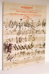 Fine music and continental manuscripts: the collection of the late Dr Felix Salzer and Mrs Hedwig Salzer