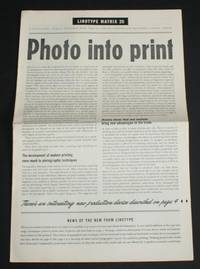 """Linotype Matrix - Number 26, December 1956. """"A Typographic Journal Published from Time to Time by Linotype and Machinery Limited by Linotype and Machinery Ltd - Paperback - First Edition - 1956 - from Bailgate Books Ltd (SKU: 19920074012)"""