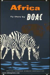Africa. Fly there by BOAC. British Overseas Airways Corporation