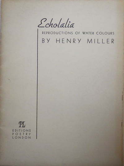 London: PL Editions Poetry, 1945. First UK edition. Loose Sheets. Very Good +. Loose sheets in folde...