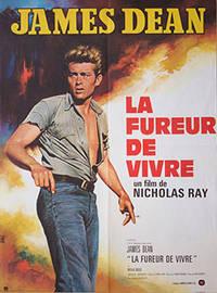 image of James Dean. Le Fureur de Vivre. (Rebel without a Cause). Poster