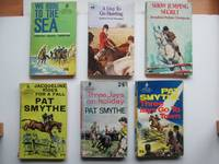 image of 6 pony stories first published in the 1940s & 1950s: We rode to the sea,  with, A day to go hunting, with, Show jumping secret, with, Jacqueline  rides for a fall, with, Three Jays on holiday, with Three Jays go to town