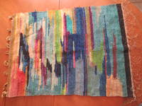 Original Modernist Textile (Wall Hanging) By Pasquale Giovanno Napolitano And Emmie (Goetz) Napolitano