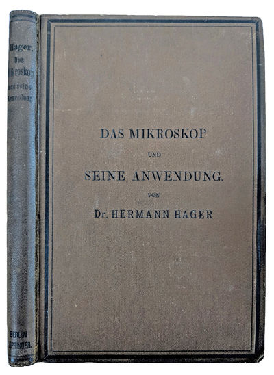 Berlin:: Julius Springer, 1886., 1886. 8vo. viii, 240, 4 pp. 316 engraved text illus., index, ads wi...