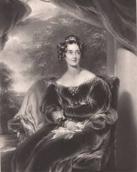 image of 1845 Original Engraving the Countess of Wilton