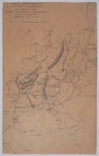 image of Partie Septentrionale du New Jersey, et Positions des Armees Americaine et Brittanique Apres le Passage de la Riviere du Nord, en 1776.  Revolutionary War map